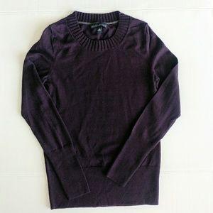 BR Merino Extra Fine Wool Eggplant Sweater